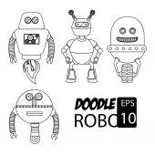 Robot design, vector illustration — Stock Vector