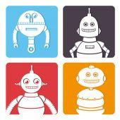 Robot design over white background vector illustration — Stock Vector