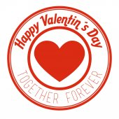 Valentines day design, vector illustration. — Wektor stockowy