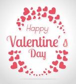 Valentines day design, vector illustration. — Stock vektor