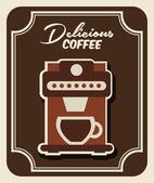 Delicious coffee — Stock Vector