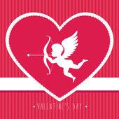 Valentines day design , vector illustration. — Stock Vector