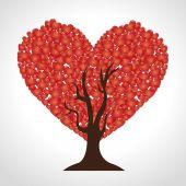 Valentines day design, vector illustration. — Stok Vektör