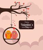 Valentin conception, illustration vectorielle. — Vecteur