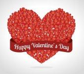Valentines day design, vector illustration. — Stock Vector