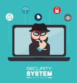 Security design, vector illustration. — Stock Vector