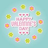 Szczęśliwy Walentynki — Wektor stockowy