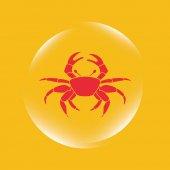Crab icon — Stock Vector