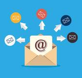 E-posta tasarım, vektör çizim. — Stok Vektör