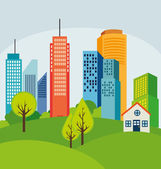Urban design illustration — Stock Vector
