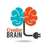 Brain design, vector illustration. — Stock Vector