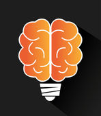 мозговой дизайн, векторная иллюстрация. — Cтоковый вектор