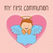 My first communion  — Stock Vector #64332673