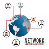 Social network design, vector illustration. — Stockvector