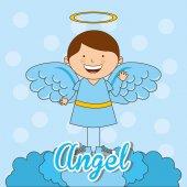 Cute angel  — Stock Vector