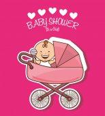 Baby shower — Stock Vector