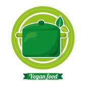 Cardápio de vegetariano rígido — Vetor de Stock