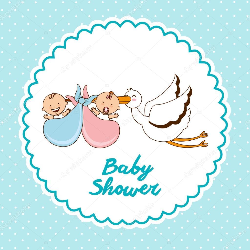 婴儿淋浴设计,矢量图 eps10
