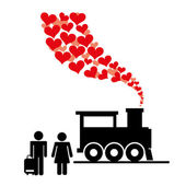 新婚旅行 — ストックベクタ
