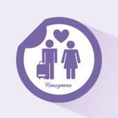 Honeymoon  — Stockvektor