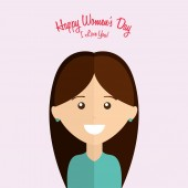 Happy womens day  — Stock Vector