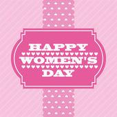 Happy womens day — Stock Vector