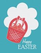 Happy easter design, vector illustration. — Stock Vector