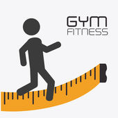 Fitness design, vector illustration. — Stockvector