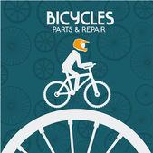 Bike design, vektorové ilustrace. — Stock vektor