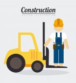 Construction design, vector illustration. — Stock Vector