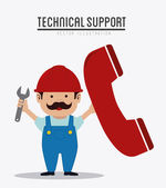 Technical support design ,vector illustration. — Stock Vector