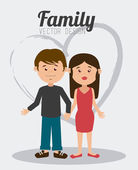 Family design, vector illustration. — Stock Vector