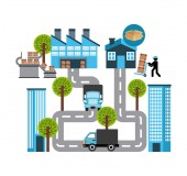 Transport logistics — Stock Vector