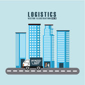 Transport logistics  — Stock Vector