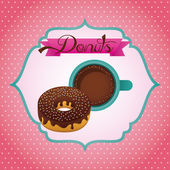 Sweet donuts — Stock Vector