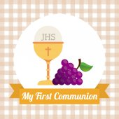 My first communion — Stock Vector