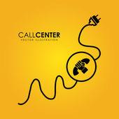 Call center — Stock Vector