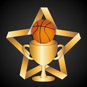 Basketbal sport — Stock vektor
