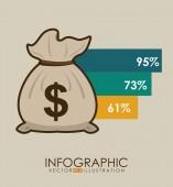 お金のインフォ グラフィック — ストックベクタ