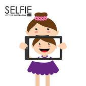 Selfie diseño, ilustración vectorial. — Vector de stock