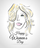 Womens day card design — Stock Vector