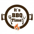 Barbecue restaurant design — Vector de stock  #64867973