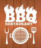 Barbecue restaurant design — Stockvector