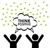 Myśleć pozytywnie — Wektor stockowy