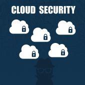 Cloud güvenlik — Stok Vektör