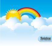 Cloudscape design, vector illustration. — Stock Vector