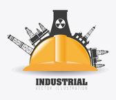 Industry design, vector illustration. — Vetor de Stock