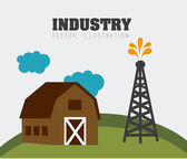 Industry design, vector illustration. — Cтоковый вектор