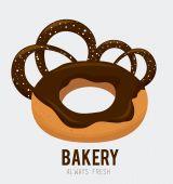 Bakery design, vector illustration. — Stockvector
