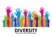 Diversity design — Stock Vector